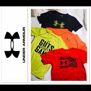 Under Armour Boys shirts sz YL